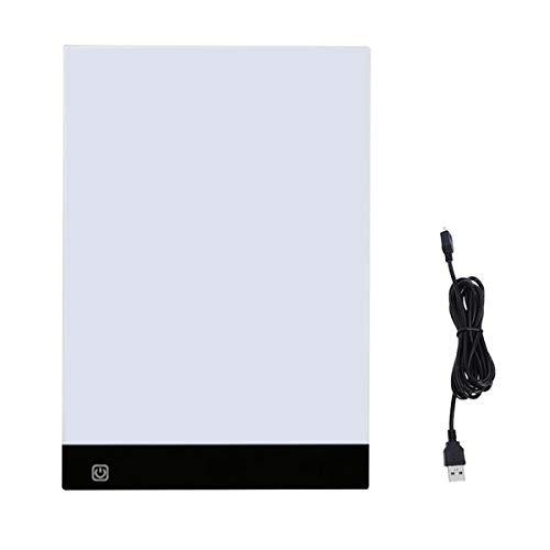 Evilandat A4 LED Leuchtplatte Leuchttisch, A4 LED Copy Board mit USB-Kabel, Einstellbare 3 Helligkeitsstufen, Light Licht Pad für Entwerfen, Zeichnung, Animation, Skizzierung
