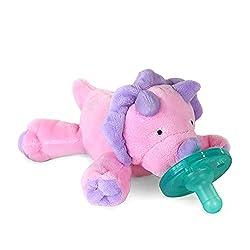 6. WubbaNub Chrissy Pink Dino Infant Pacifier