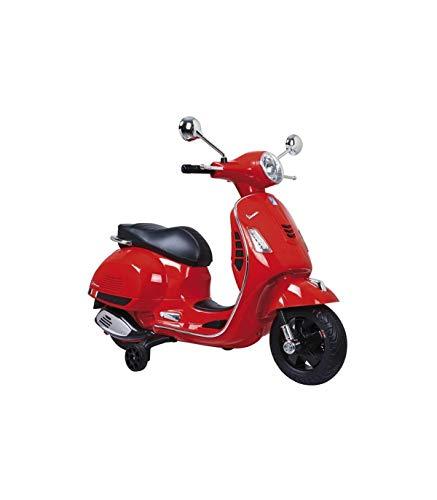 Motoor Kids Moto Vespa Roja Eléctrica para Niños