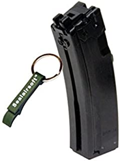WE 26rds Gas Airsoft Gas Magazine For APACHE MP5 MP5K MP5A2 GBB SMG BLK -Mobile Ring Included