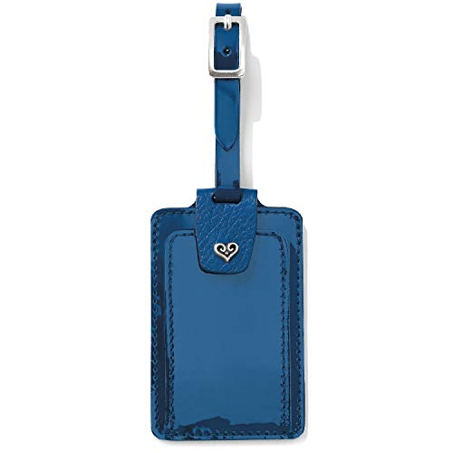 Brighton B Wishes Blue Patent Leather Luggage Tag