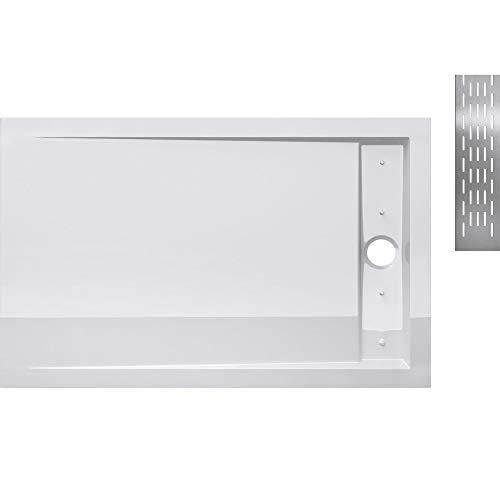 Receveur de douche 90x120cm bac à douche blanc Sogood Xetro04W acrylique 90x120x5cm