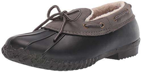 JBU by Jambu Women's Gwen Rain Shoe, Black/Charcoal, 7.5 Medium US