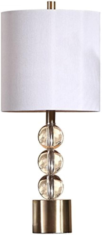 Best Tischleuchte- Kristall Tischlampe Moderne Wohnzimmer Schlafzimmer Nachttischlampen Galvanik Bronze Basis Taste Schalter E27 -Desk Lamp LED