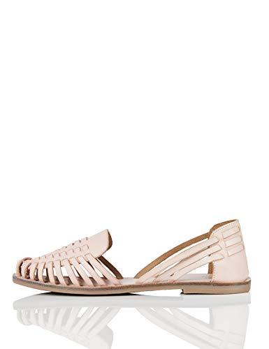 FIND Hurrache Geschlossene Sandalen, Pink (Pale Pink), 39 EU
