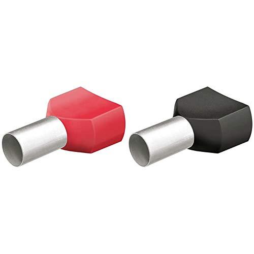 KNIPEX Punteras huecas Twin con collar de plástico 50 unidades de cada tipo 97 99 377 + Punteras huecas Twin con collar de plástico 200 unidades de cada tipo 97 99 373