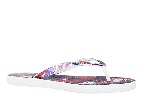 Emporio Armani EA7Damen Flip Flops Sandalen Sea World Graph Palm Pink (39)
