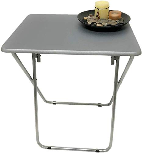 New Unique Portable Space Saving Folding Legs Table Adjustable Table/Side Table/End Table/Coffee Table Perfect for Study Picnic Garden Patio Bbq Party Table Living Room Kitchen indoor Outdoor-Grey