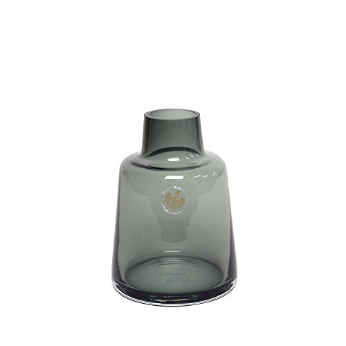 [ホルムガード]Holmegaard フローラ フラワーベース ショート スモーク H12 4340844 花瓶 [並行輸入品]