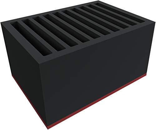 Feldherr DDMEZJ190BO-PE Bandeja de Espuma rígida con amplios Compartimentos para 10 tabletas en Fundas Gruesas - los Dispositivos se almacenan verticalmente
