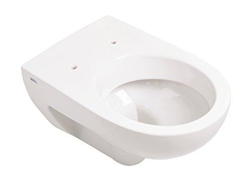 Keramag Wand-WC Renova Nr. 1, 203040000, Tiefspüler mit Kunststoffspülverteiler, waagerechter Abgang, Sanitär-Keramik, Weiß, 03964 2