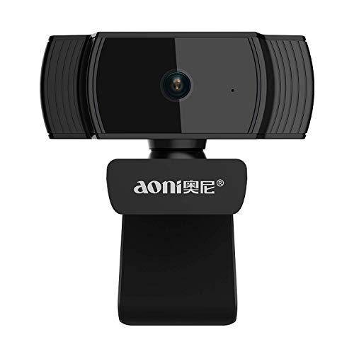 Coby Cámara Web Full HD 1080P, cámara de transmisión en Vivo Auto Focus USB con micrófono con cancelación de Ruido para reuniones,Skype,Youtube,Facebook Chat y grabación de Video