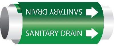 SIZE 8LG, GRN/WT SANITARY DRAIN