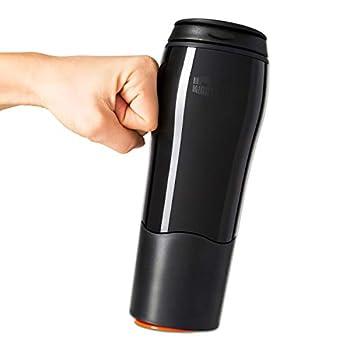 Mighty Mug Go Double Wall Plastic 16oz Travel Mug featuring No Spill Smartgrip Technology - Black