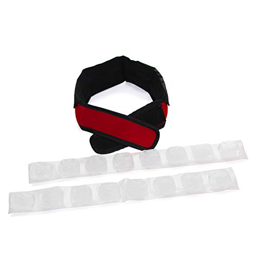 FlexiFreeze Cooling Collar - Neck Cooling Ice Wrap, Red