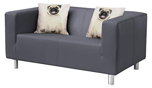 Collection AB Cube Sofa, Stoff, anthrazit, 85 x 135 x 65 cm