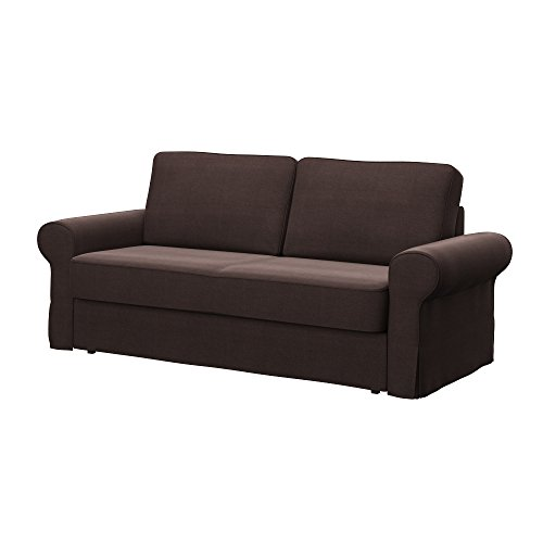 Soferia - IKEA BACKABRO Funda para sofá Cama de 3 plazas, Elegance Brown