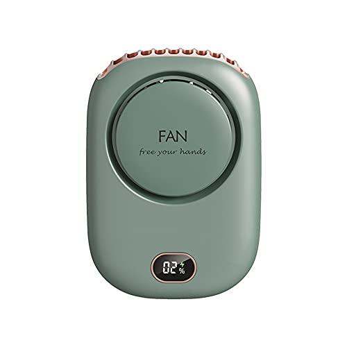 HEEYEE 2021 Nuevo Mini Ventilador portátil Ventiladores Ajustables de 3 velocidades Mini Ventilador Personal de Mano Escritorio USB Viaje Exterior Enfriador de Aire Colgante,Azul