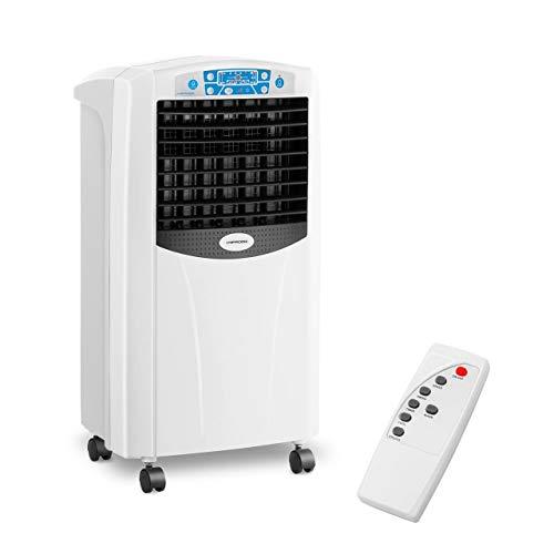 Uniprodo UNI_COOLER_03 Luftkühler mit Wasserkühlung 5-in-1 mobiles Kühlgerät ohne Abluftschlauch 6 l Luftbefeuchter Lufterfrischer mit Heizfunktion