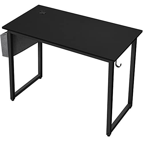 Yaheetech Mesa Escritorio para Oficina Despacho Mesa de Ordenador Mesa de Estudio Negro 100 x 50 x 75 cm