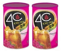 4C Instant Iced Tea Mix, Raspberry, 70.3 Oz, 1 Count (Pack of 2)
