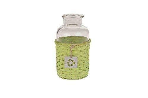 Bouteille en verre panier pour chien vert petit modèle ø: 20 x 10 cm