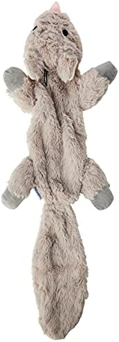 """""""Mad About Pets"""" Unstuffed Chipmunk Character Soft Dog Toy"""
