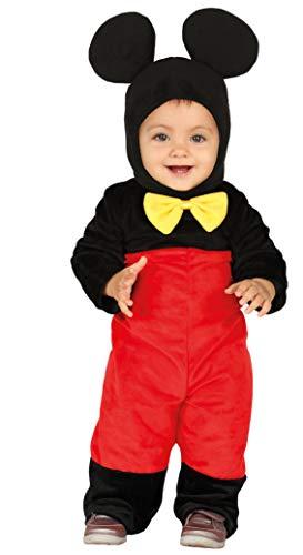 Guirca- Costume Topolino, Colore Nero e Rosso, 12-18 Mesi, 88375