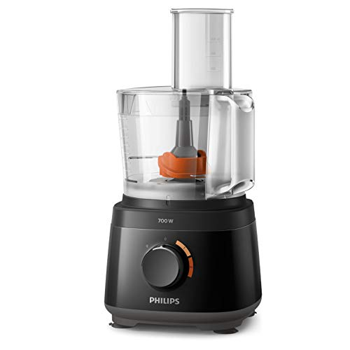 Philips HR7320/10 Daily Collection keukenmachine, zwart, 700 W, kom 1,5 l, met blender 1 l