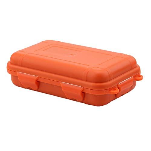 1PC Caja de Almacenamiento de Supervivencia al Aire Libre Caja de plástico a Prueba de Golpes a Prueba de choques A Prueba de Agua Caja de Transporte para Actividades(S-Orange)