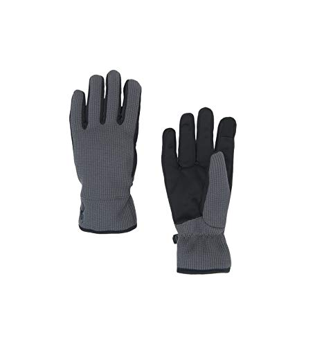 Spyder Men's Bandit Stryke Fleece Glove, Polar/Black/Black, Large