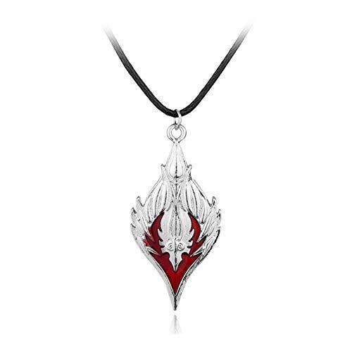 AdorabFruit Présent Pendentif Collar Colgante Rombo Horda Símbolo Collar de Esmalte de la Vendimia Hombres Mujeres Moda Accesorios Joyería Fresca (Metal Color : Xl0445)