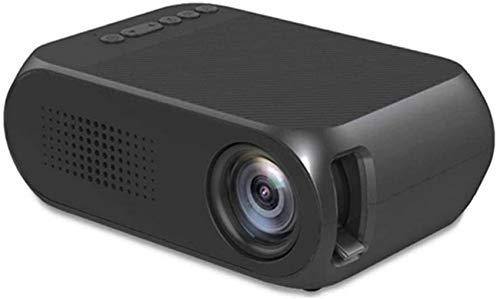 SAFGH Proyector de Video portátil - Negro - Múltiples Opciones - 600 lúmenes - Soporte HD - Cine móvil - 12.6X8.6X4.8cm 11-12 (Color: Negro, Tamaño: Estándar)