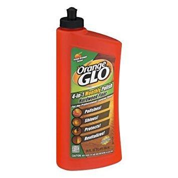 Orange Glo 4-in-1 Monthly Polish Hardwood Floor Fresh Orange Scent, 24.0 FL OZ - Pack of 2