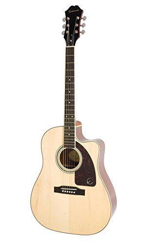 Epiphone by Gibson AJ-220 SCE Natur/Westerngitarre mit Tonabnehmer und eingebautem Stimmgerät