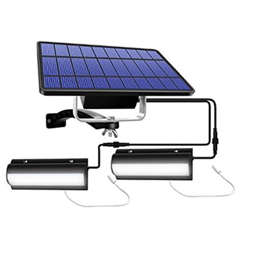 vvd El Panel Solar De La Lámpara Colgante Colgante 2 Impermeable Ip65 Led con El Cable De La Luz Blanca para Garaje Shed Bombilla Negro