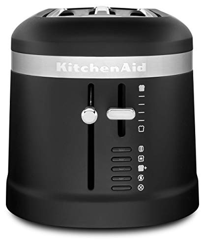 KitchenAid KMT5115BM 4 Slice Long Slot High-Lift Lever Toaster, Black...