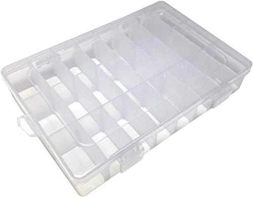 EUROXANTY® Caja Organizador Ajustable   Caja de Almacenaje de Plástico   Organizador de Tornillos   Organizador de Joyas   Varios Compartimientos Extraíbles
