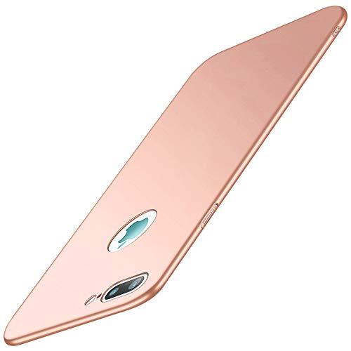 Vanki Custodia con iPhone 8 Plus,Cover iPhone 7 Plus,Ultra Slim Hard PC Case Protettiva Posteriore Copertura Bumper Antiurto AntiGraffio per iPhone 7 Plus/8 Plus (iPhone 8 Plus, Rosa)
