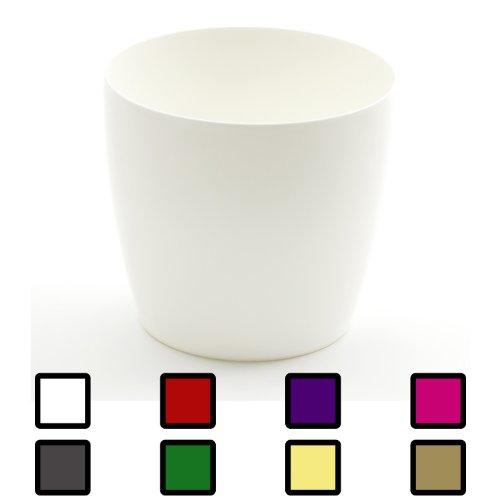 Grande vaso per piante COUBI ø 400 mm rotondo 30L colore: bianco lucido