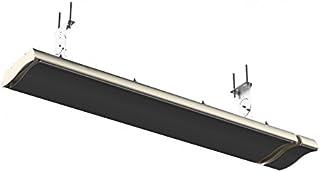 Infra lógica del radiador oscuro con control remoto con IPX4 de chapa de acero en negro
