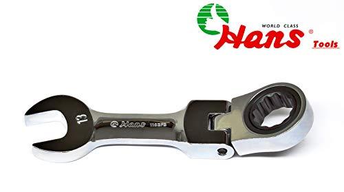 Hans Maul-Ring-Ratschenschlüssel mit geschraubtem Gelenk, 13 mm kurz