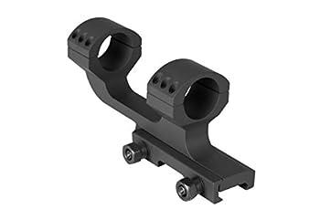 Monstrum Offset Cantilever Dual Ring Scope Mount | 1 inch Diameter  Black