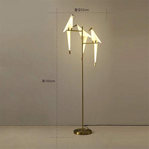 UV-lampen moderne vogel lamp hanger lamp Scandinavische lamp hanger licht Origami kraan hanger plafondlamp woonkamer wandlamp bureaulamp floor lamp 3_Head