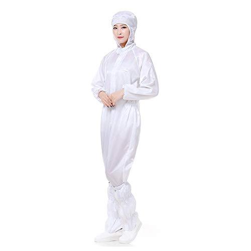 Esplic Bata De Protección Antiestática para Hombres, Mujeres, Bata De Protección Lavable A Prueba De Polvo con Capucha para Taller Interior Al Aire Libre
