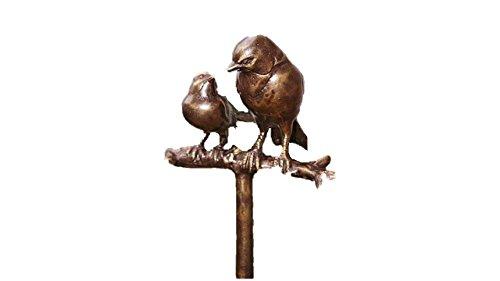 Zwei Vögel auf AST, Bronzefigur Vögel, Tierfigur aus Bronze, Dekoration