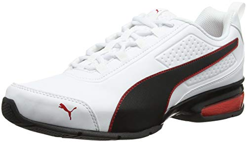 PUMA Leader VT SL, Zapatillas Unisex Adulto, Blanco (White/Black/Flame Scarlet), 43 EU
