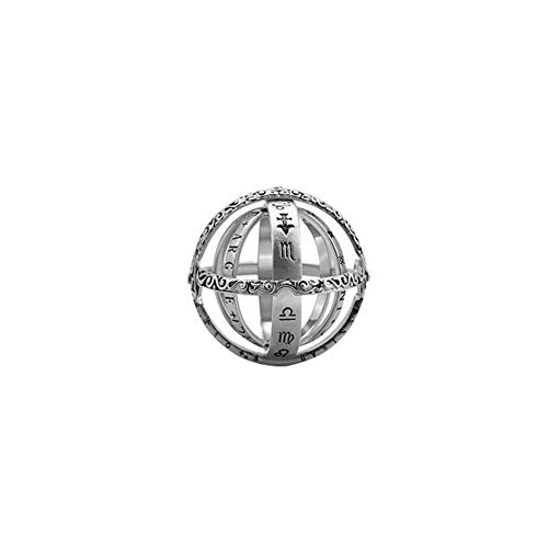 Zhaolian888 Anillo Astronomico Esfera Regalos de la joyería del Anillo de Dedo de la Esfera del Universo de la Plata esterlina