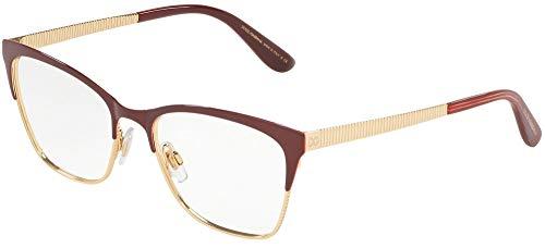 Dolce & Gabbana 0DG1310 Monturas de gafas, Bordeaux/Gold, 53 para Mujer