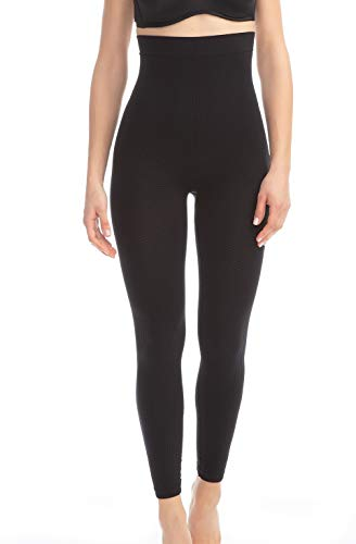 Farmacell 133 (Schwarz, S/M) Massierende Leggings hohe Taille anti Cellulite